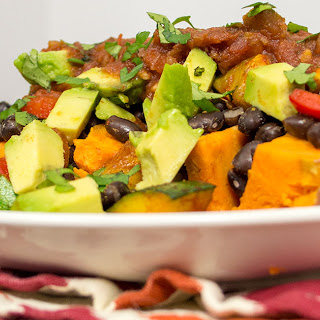 Black Bean Stuffed Sweet Potatoes.