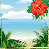 Tropical Beach Photo Collage