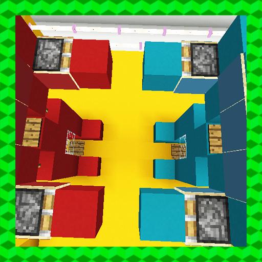 Rock Em' Sock Em' Robots. MCPE map
