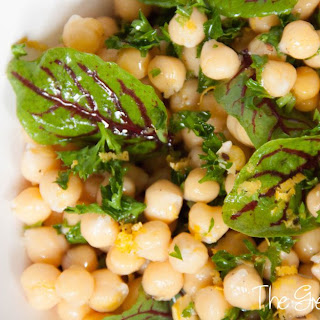 Zingy Chickpea and Sorrel Salad