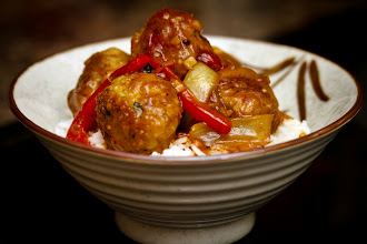 Photo: Sweet and sour meatballs on rice