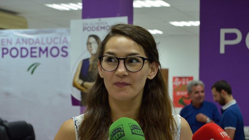 Carmen Mateos, concejal de Podemos en el Ayuntamiento de Almería.