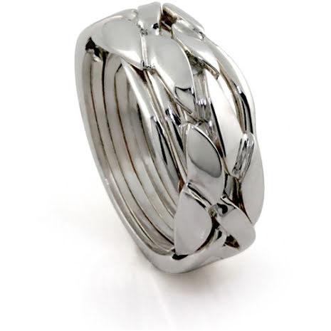Silverring i 6 delar