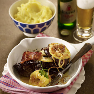 Calves Liver with Roasted Onions and Apples