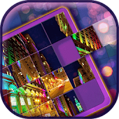 City at Night Slide Puzzle