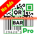 Qr BarCode Scanner & Generator Pro (No Ads) icon