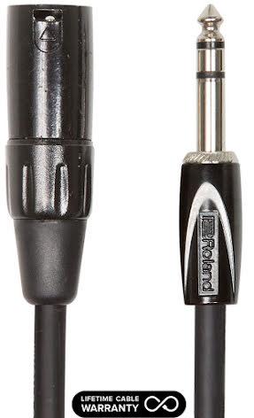 Roland Black Series RCC-10-TRXM 1/4´ TRS-XLR Male 3m