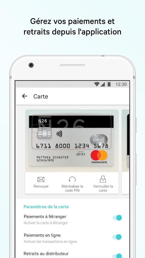 N26 – La Banque Mobile – Capture d'écran
