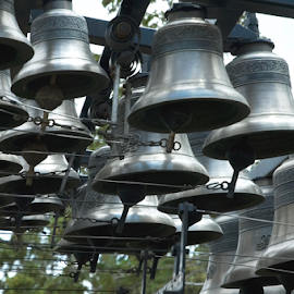 Carillon bells by Gayle Mittan - Artistic Objects Other Objects ( cast in bronze, silver bell, music, ringing, bells, bell show, church bells, carillon, instrument, bronze )
