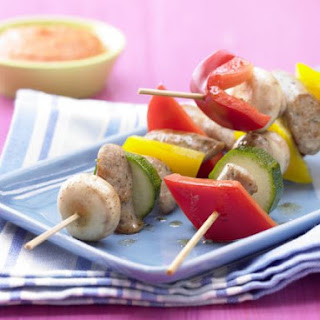 Sausage Skewers with Vegetables