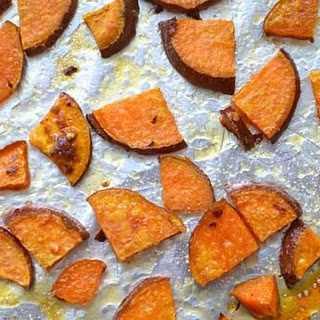 Honey and Chili Roasted Sweet Potato