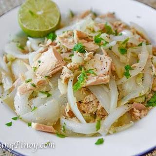 Ginisang Tuna (Canned Albacore Tuna Sauteed with Onions).