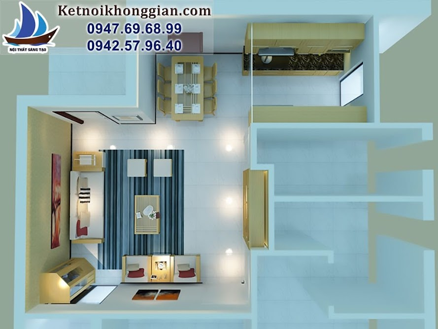 thiết kế căn hộ chung cư diện tích nhỏ