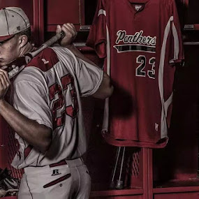 Mettalic Moments by Scott Bruewer - People Portraits of Men ( high school, baseball, panthers, portrait, senior,  )