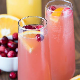 Cranberry Orange Mimosa Bellini.