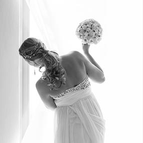 Preparations Peek by Rob Rickman - Wedding Bride