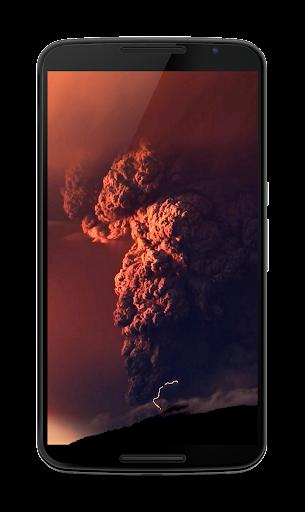 火山噴火のビデオLWP