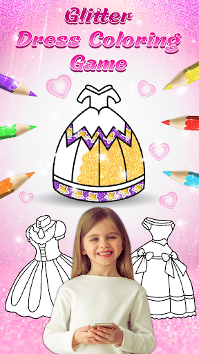 Glitter dress coloring and drawing book for Kids 4.2 screenshots 1