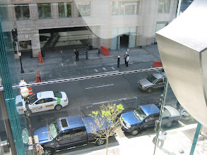 Photo: Looking down to the street from the top floor