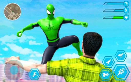 Spider Rope Hero Man: Miami Vise Town Adventure modavailable screenshots 4