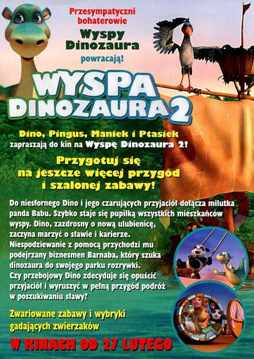 Tył ulotki filmu 'Wyspa Dinozaura 2'