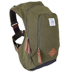 Scrambler™ 16L Bounce Free Retro Daypack, Canvas Olive Green