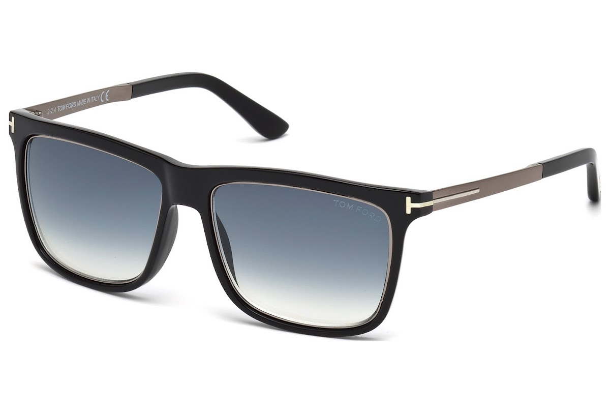 c171cec1f2f63 Sunglasses Tom Ford Karlie FT0392 C57 02W (matte black   gradient blue)