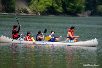 Photo: Five person canoe at Little River State Park by Lene Gary
