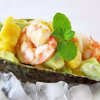 Prawn Salad With Avocado and Mango