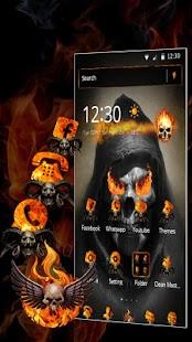 Fire Skull Theme - náhled