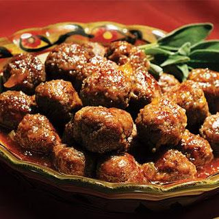 Sweet and Savory Meatballs.
