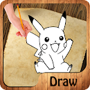 H‍ow to d‍raw P‍oke‍mon P‍ro v 1.1.1 app icon