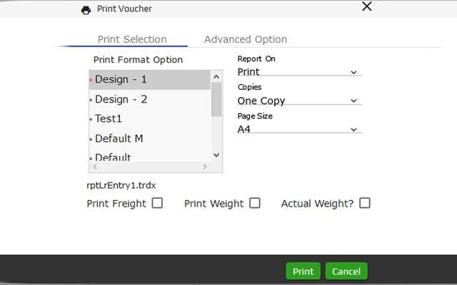 eCount Software - Printing Plug-In