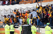 March 13 2016 .Kaizer Chiefs fans calling for coach Steve Komphela to vacate his seat, during their CAF match against Asec Mimosas at FNB Stadium in Johannesburg.