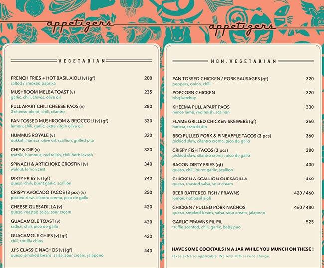 Jamjar Diner menu 9