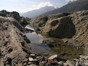 Photo: Lake at the edge of the glacier