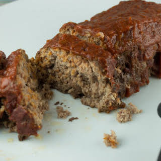 Paleo Meatloaf with Tomato Glaze.