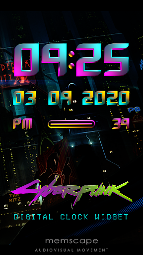Download CYBERPUNK Digital Clock Widget MOD APK 1