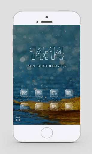 Glass Theme Smart Launcher