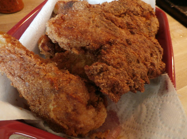 Nan's Buttermilk Cornmeal Fried Chicken Recipe