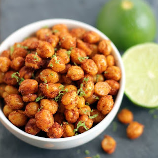Pan-Fried Crispy Chickpeas with Lime.