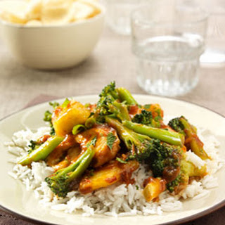 Ajam Paniki met ananas en broccoli