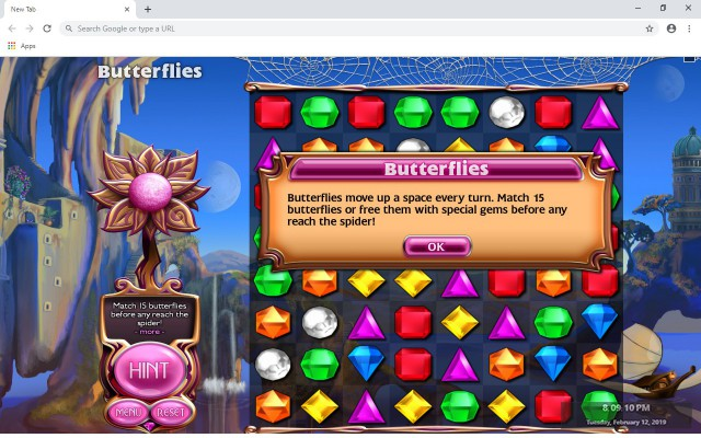 Bejeweled Blitz New Tab Theme