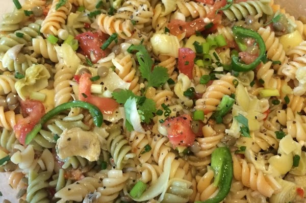 Never Ending Robust Artichoke Veggie Pasta Salad Recipe