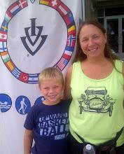 Photo: Auburn IN, ADC Walk, Liz Winsley and grandson Caiden