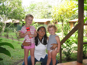 Photo: Genevieve and Charlotte with Katia, our most excellent guide at Mawamba