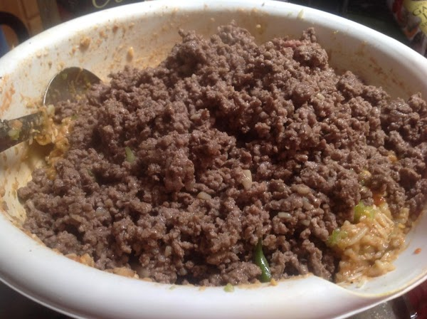 Cook ground beef, and drain any excess liquid from skillet,
