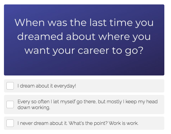 dream of career question