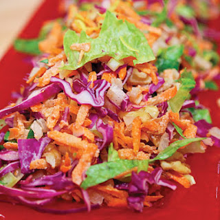Carrot, Cabbage and Walnut Coleslaw