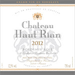 Chateu Haut-Rian Bordeaux Rose